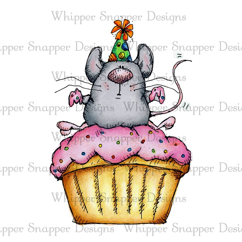 Whipper Snapper - Cupcake Mouse Stamp
