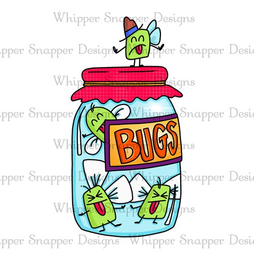 Whipper Snapper - Jar of Bugs Stamp