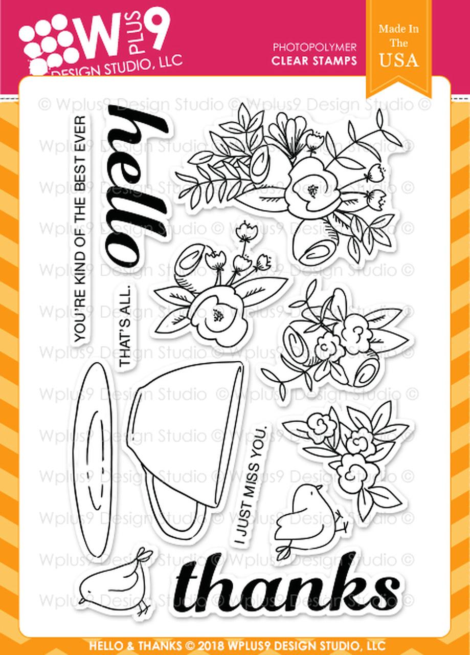 WPlus9 - Hello & Thanks Stamp Set