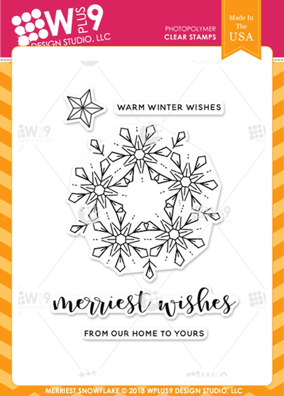WPlus9 - Merriest Snowflake Stamp Set