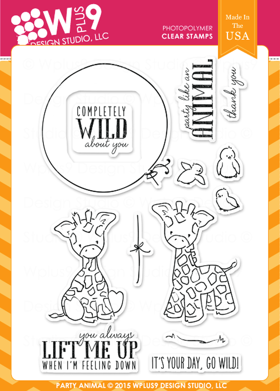 WPlus9 - Party Animal Stamp