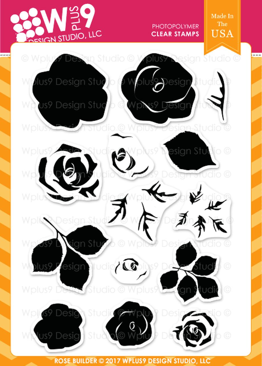 WPlus9 - Rose Builder Stamp Set