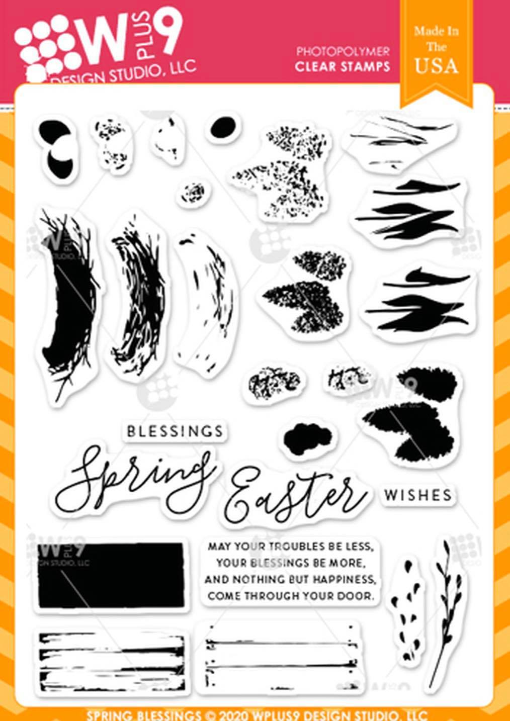 WPlus9 - Spring Blessings Stamp Set
