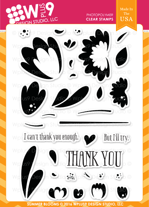 WPlus9 - Summer Blooms Stamp Set