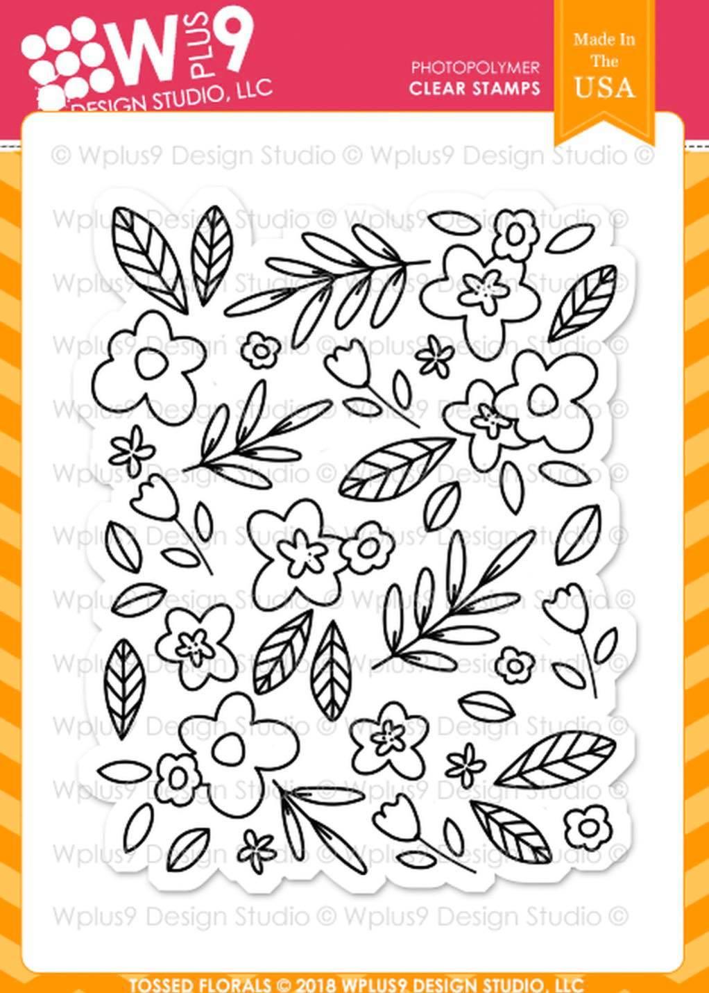 WPlus9 - Tossed Florals Stamp Set