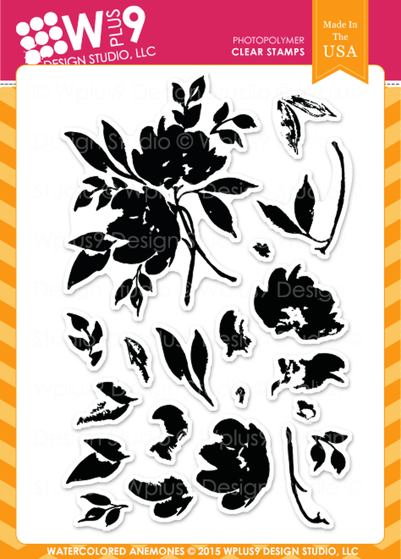 WPlus9 - Watercolor Anemones Stamp Set