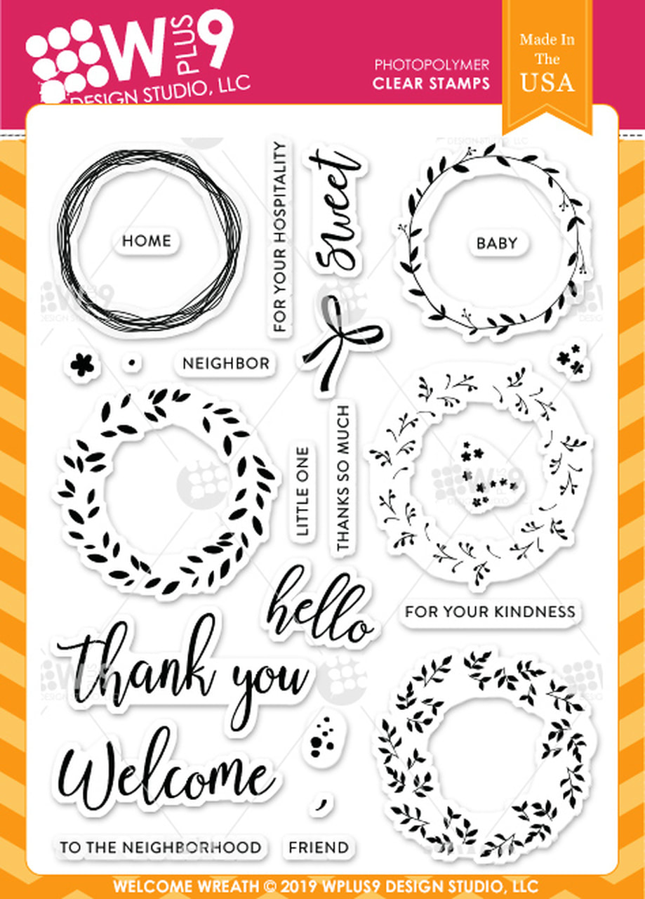 WPlus9 - Welcome Wreath Stamp Set
