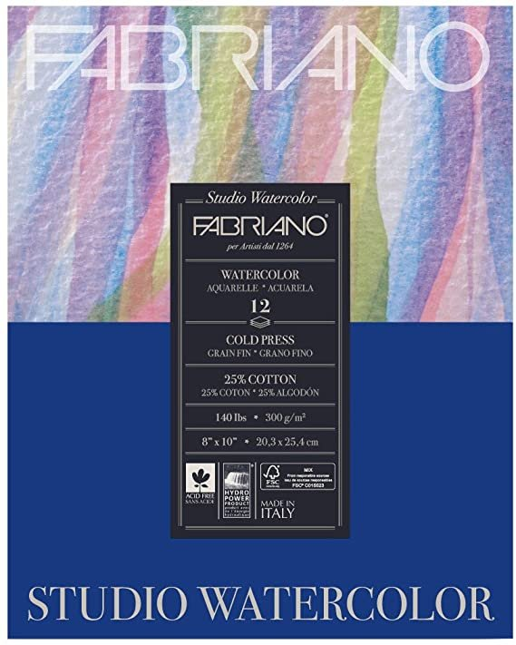 Fabriano - Watercolor Cold Press 8x10