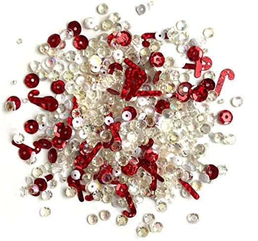 Buttons Galore - Sprinkletz: Peppermint Stix