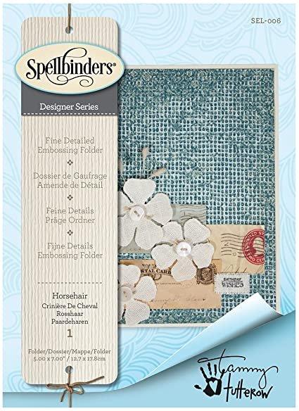 Spellbinders - Horsehair Embossing Folder