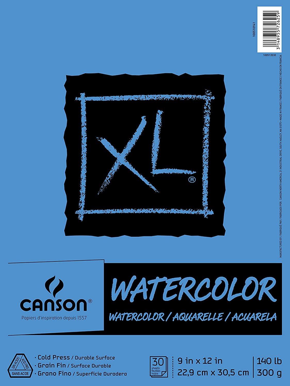 Canson - Watercolor Paper 9x12 Cold Press (30 sheets)