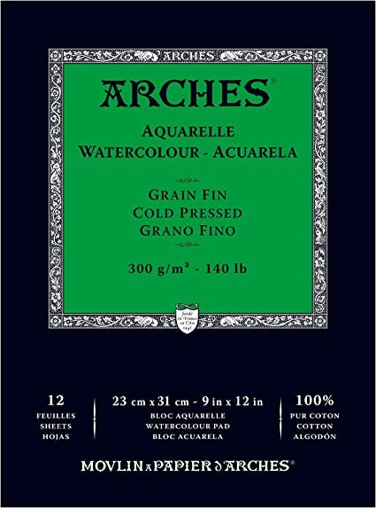 Arches - Cold Pressed Watercolor Paper 9x12