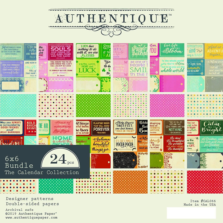 Authentique - The Calendar Collection Paper Pad 6x6