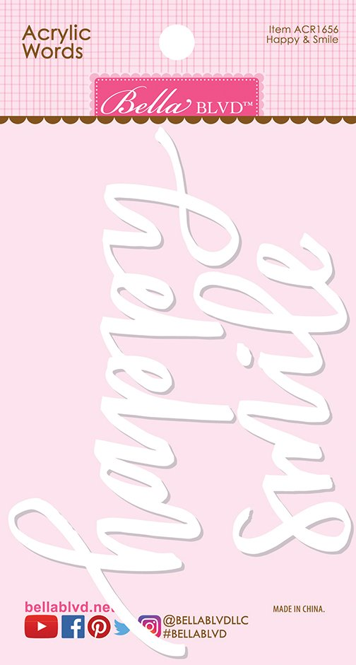 Bella Blvd - Happy and Smile Acrylic Words