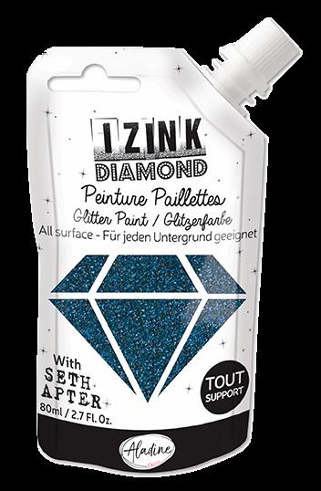 Aladine - Seth Apter IZINK Diamond Glitter Paint: Beautiful Blue