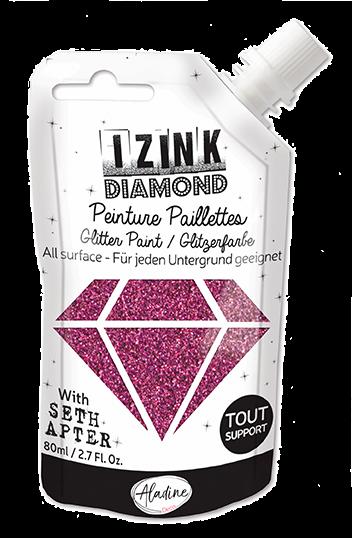 Aladine - Seth Apter IZINK Diamond Glitter Paint: Roze Eggplant