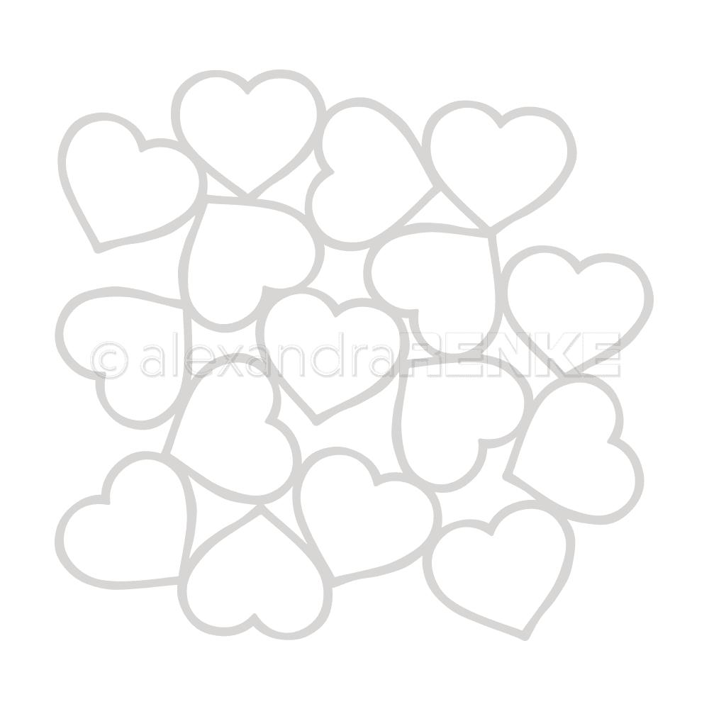 Alexandra Renke - Heart Frame Stencil