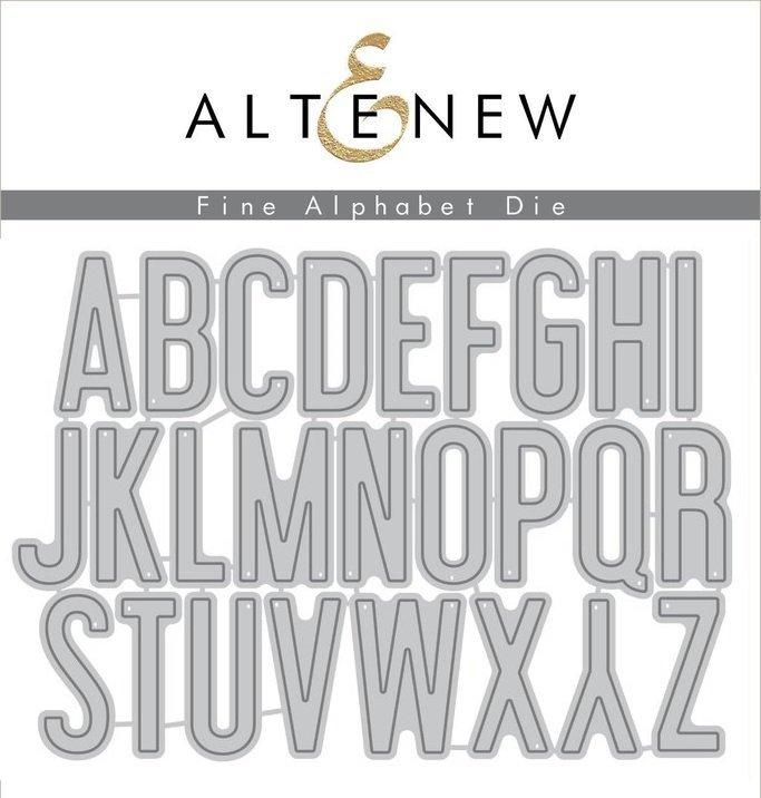Altenew - Fine Alphabet Die Set