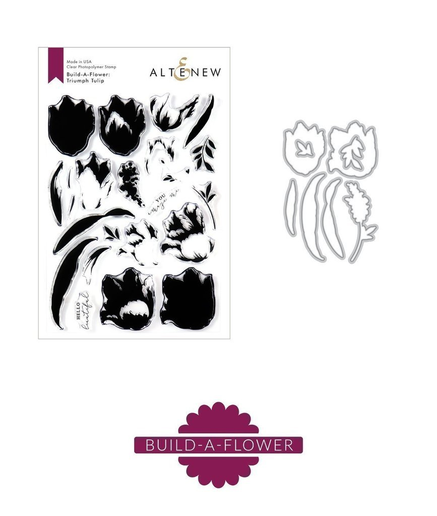 Altenew - Build-A-Flower: Triumph Tulip Stamp/Die Set