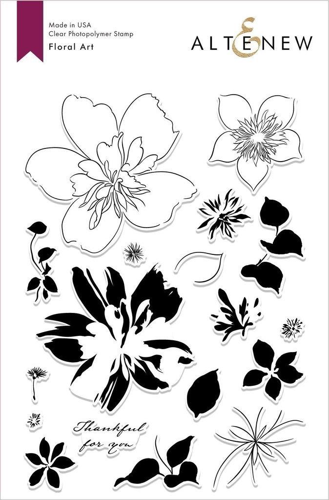 Altenew - Floral Art Stamp/Die Set