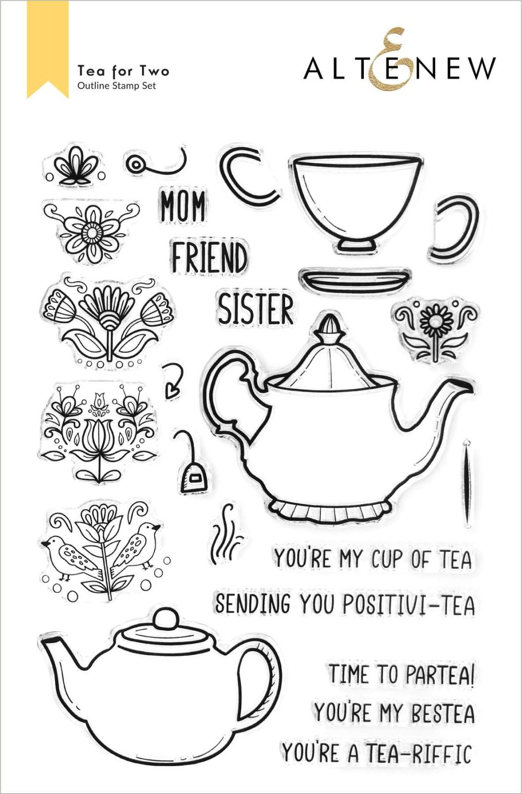 Altenew - Tea for Two Stamp Set