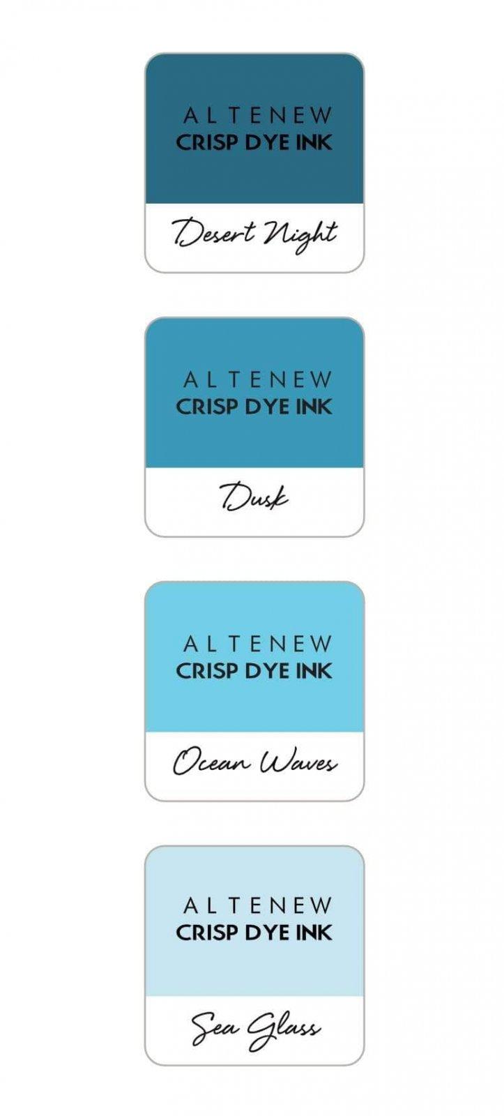 Altenew - Cool Summer Night Crisp Dye Ink Mini Cube Set
