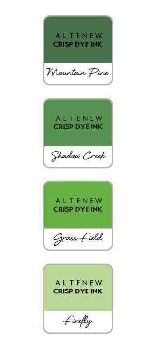 Altenew - Green Valley Crisp Dye Ink Mini Cube Set