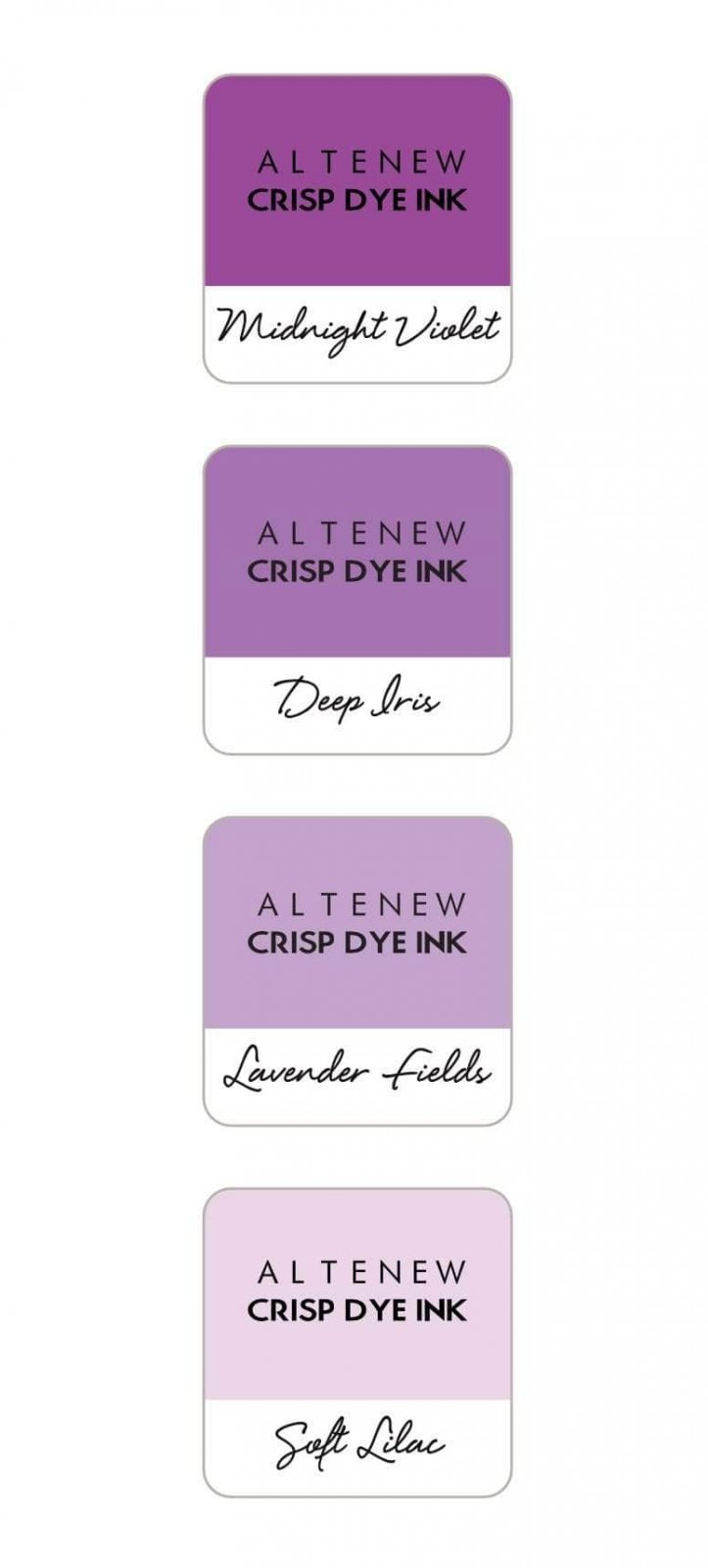 Altenew - Shades of Purple Crispy Dye Ink Mini Cube Set
