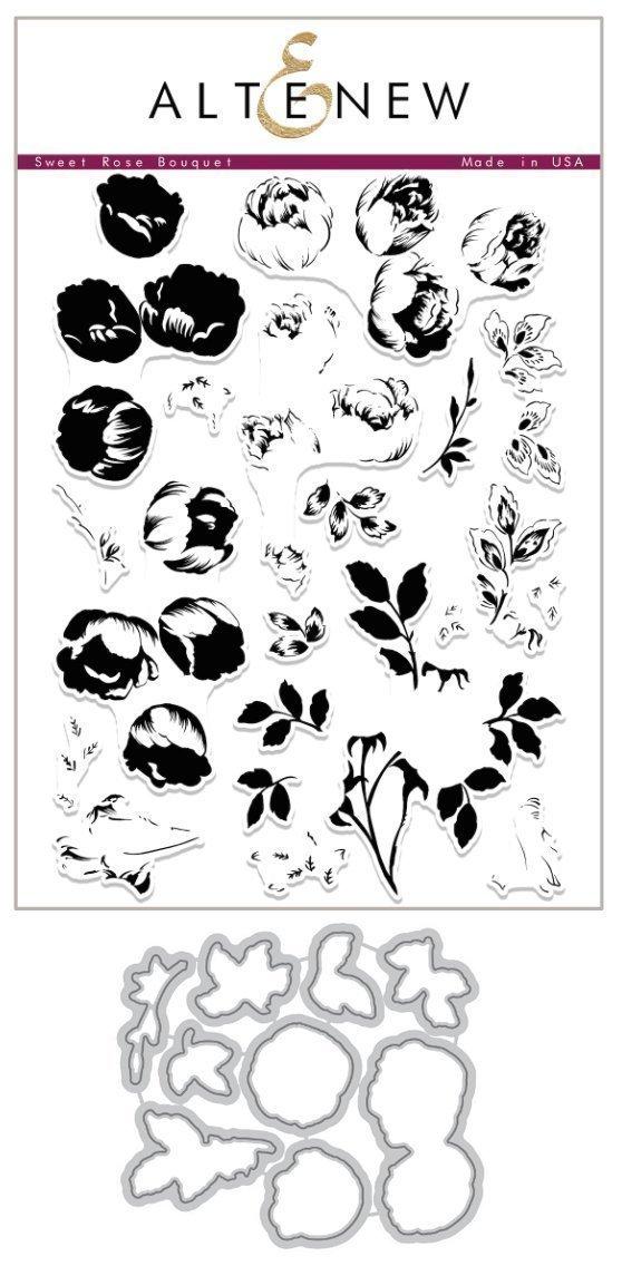 Altenew - Sweet Rose Bouquet Stamp/Die Set