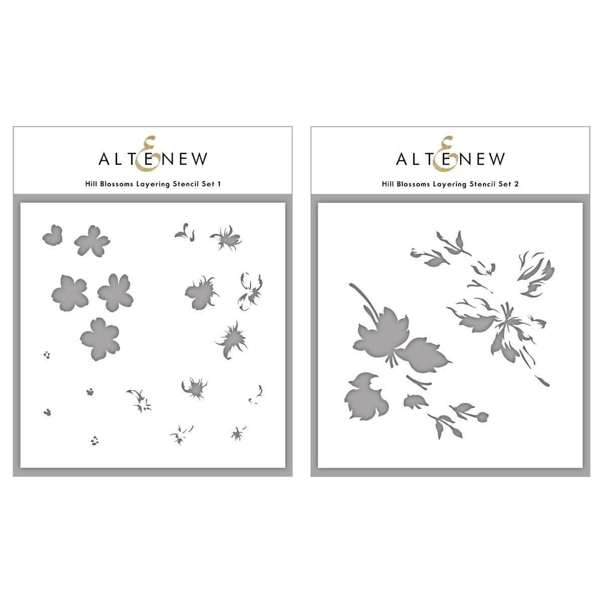 Altenew - Hill Blossoms Layering Stencil Set (2 in 1)