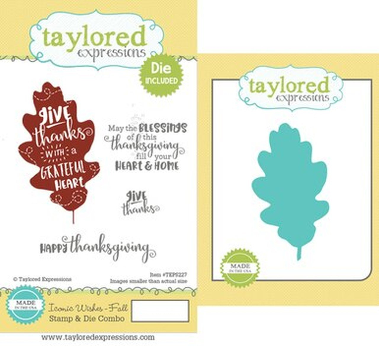 Taylored Expressions - Iconic Wishes, Fall Stamp & Die Set