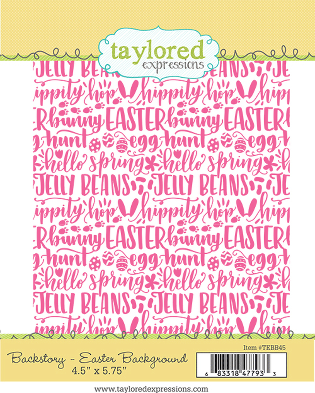 Taylored Expressions - Backstory: Easter Background Stamp