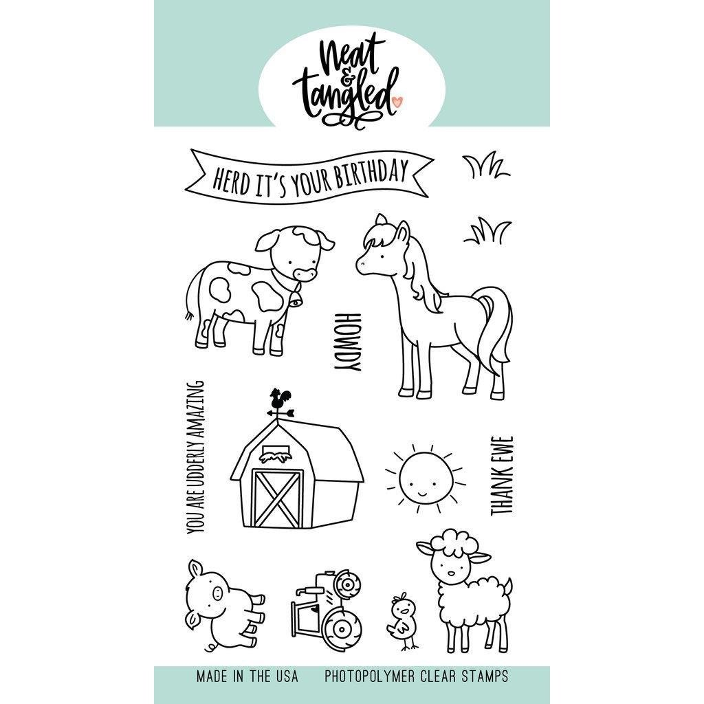 Neat & Tangled - Barnyard Buddies Stamp Set