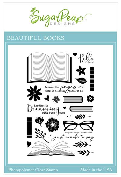 Sugar Pea Designs - Beautiful Books Stamp Set