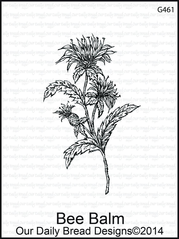 Divinity Designs ODB - Bee Balm Flower Stamp