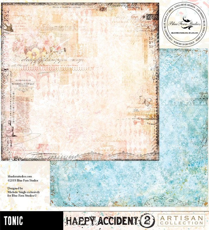 Blue Fern Studios - Tonic 12x12 Paper