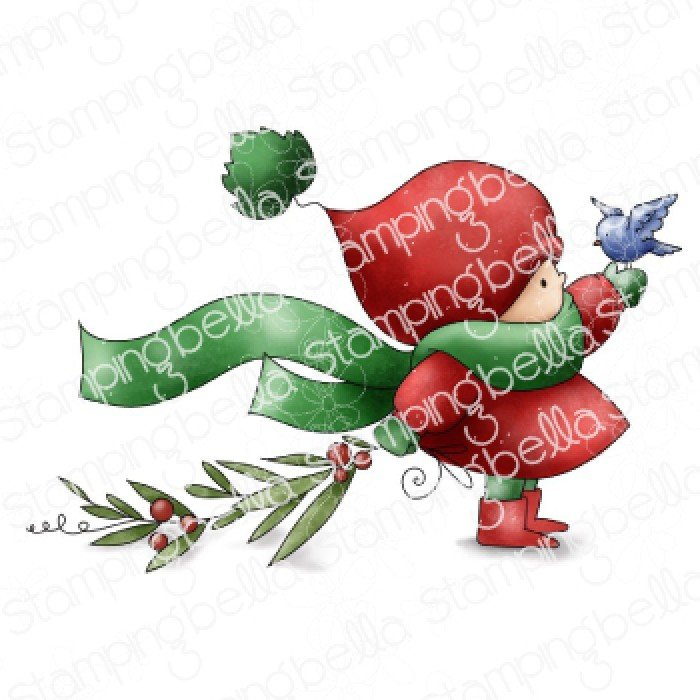 Stamping Bella - Bundle Girl with Winter Branch Cling Stamp