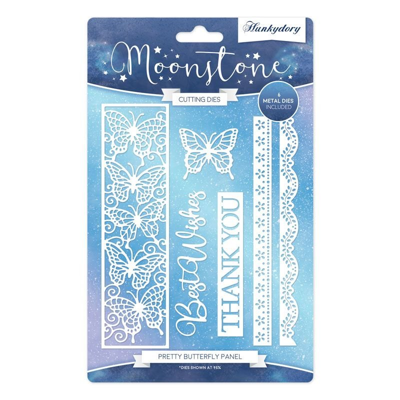 Hunkydory Crafts - Pretty Butterfly Panel Moonstone Die