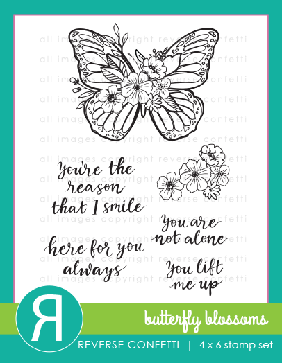 Reverse Confetti - Butterfly Blossoms Stamp Set
