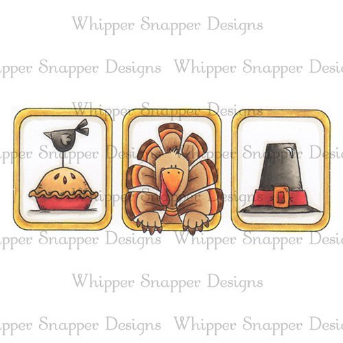 Whipper Snapper - Thanksgiving Boxes Cling Stamp