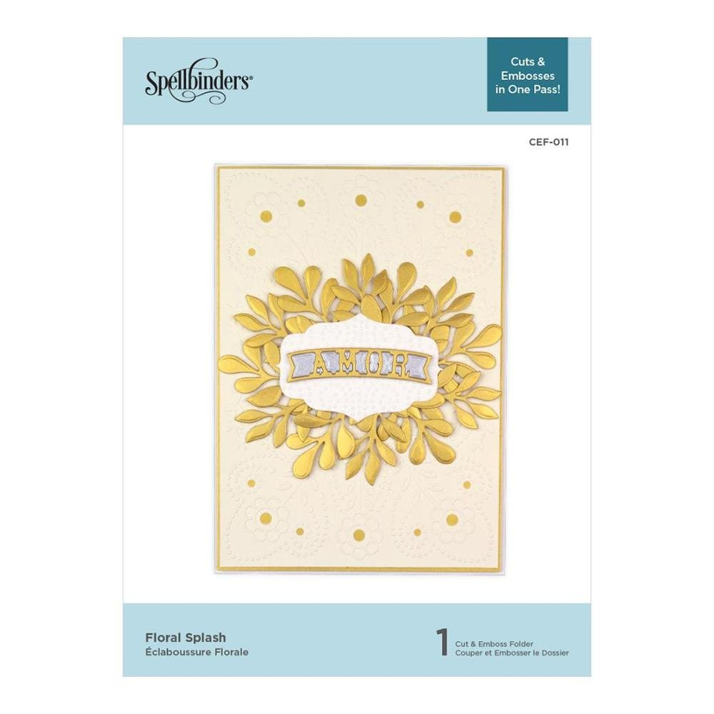 Spellbinders - Floral Splash Cut & Emboss Folder