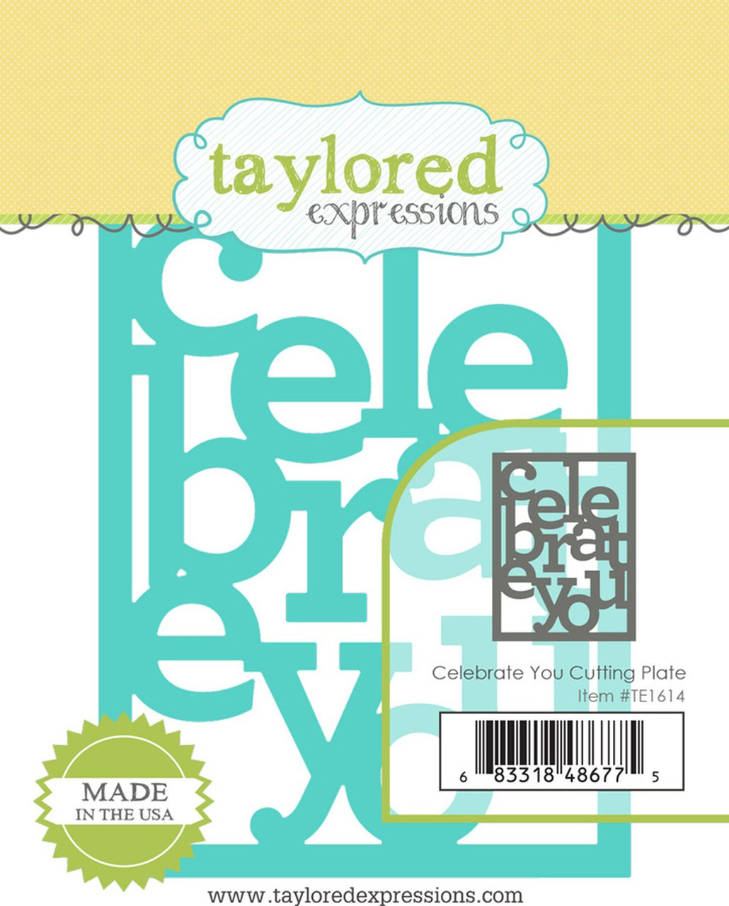 Taylored Expressions - Celebrate You Cutting Plate