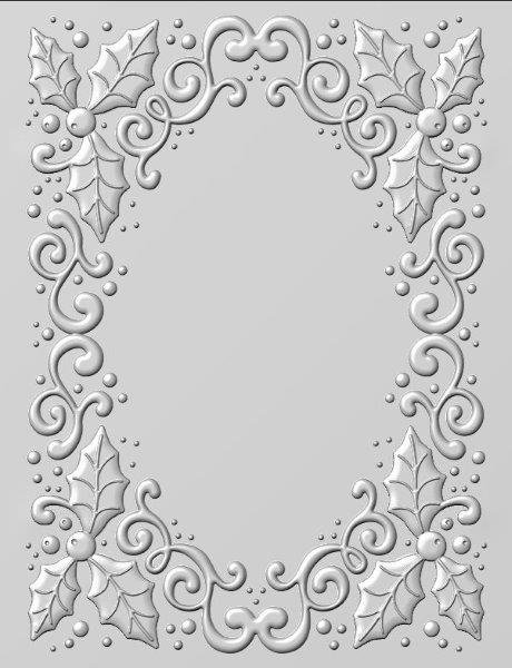 Creative Expressions - Holly Swirls Embossing Folder