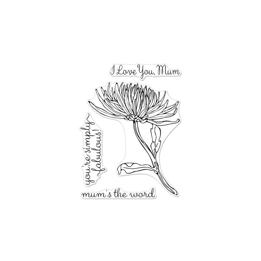 Hero Arts - Floral Mum Stem Stamp Set