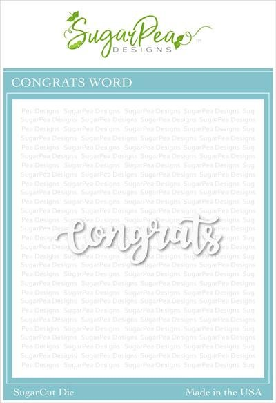 Sugar Pea Designs - Congrats Word Die