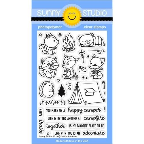 Sunny Studio - Critter Campout Stamp/Die Set