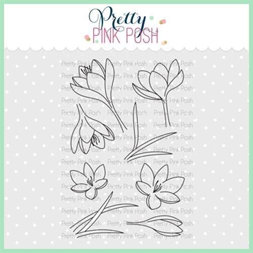 Pretty Pink Posh - Crocus Flowers Stamp Set