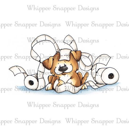 Whipper Snapper - Sassy Puppy Cling Stamp