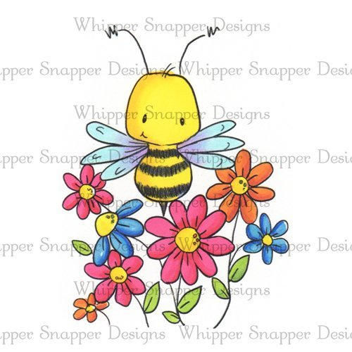 Whipper Snapper - Beeutiful Floral Cling Stamp