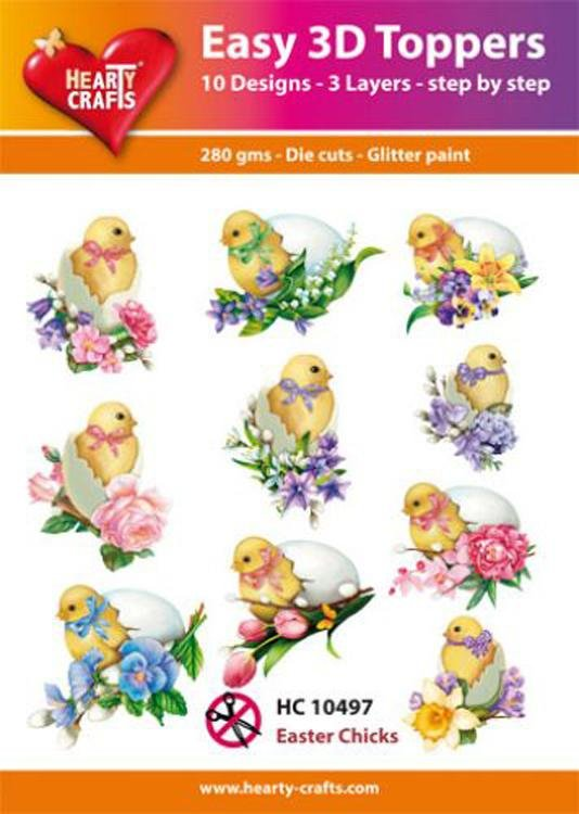 Hearty Crafts Easy 3D Toppers - Easter Chicks